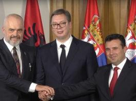Albania PM Edi Rama, Serbia President Vučić and North Macedonia PM Zoran Zaev