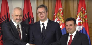 Albania PM Edi Rama, Serbia President Vučić and North Macedonia PM Zoran Zaev